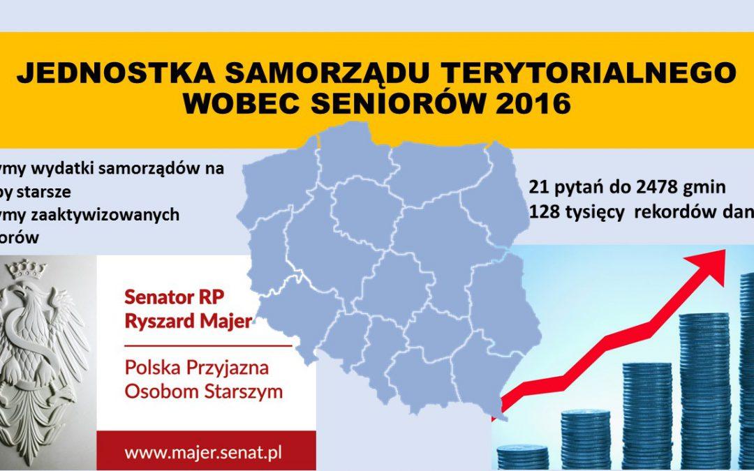 Samorząd wobec seniorów 2016