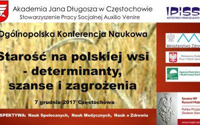 """Zapraszamy na Ogólnopolską Konferencję Naukową ,,Starość na polskiej wsi"""""""