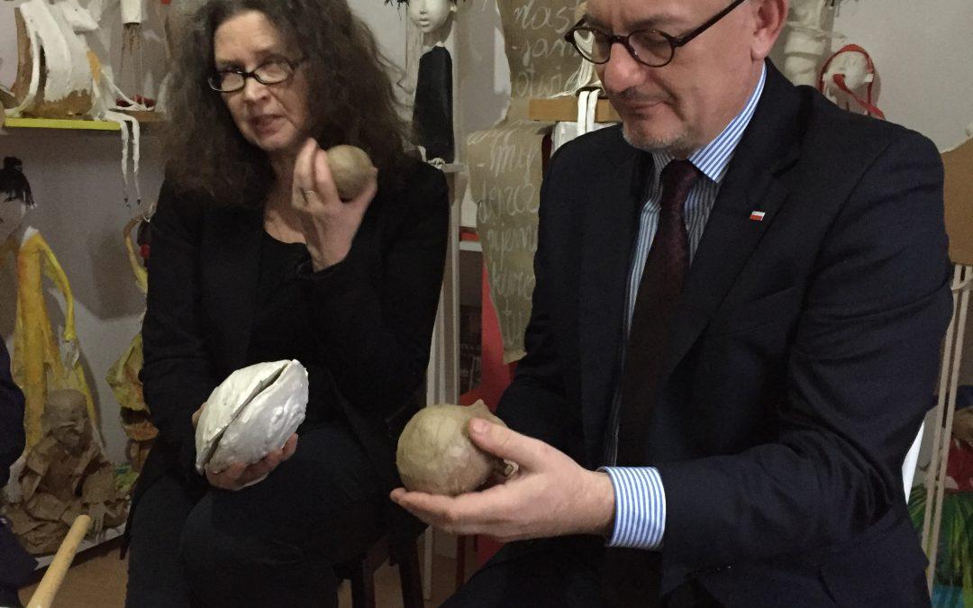 Wizyta w pracowni rzeźb z papieru pani Mirosławy Truchty-Nowickiej w Poczesnej